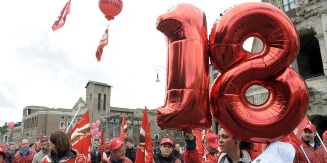 20/04/2012 Roma, sciopero generale, manifestazione regionale della Cgil contro la modifica dell' articolo 18